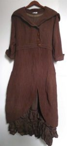 Fitzgerald Coat Dress in Ribbed Weave over the Fennefleur Frock in Herringbone Silk Linen.