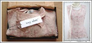 Ivey Abitz vest in a box ready to ship