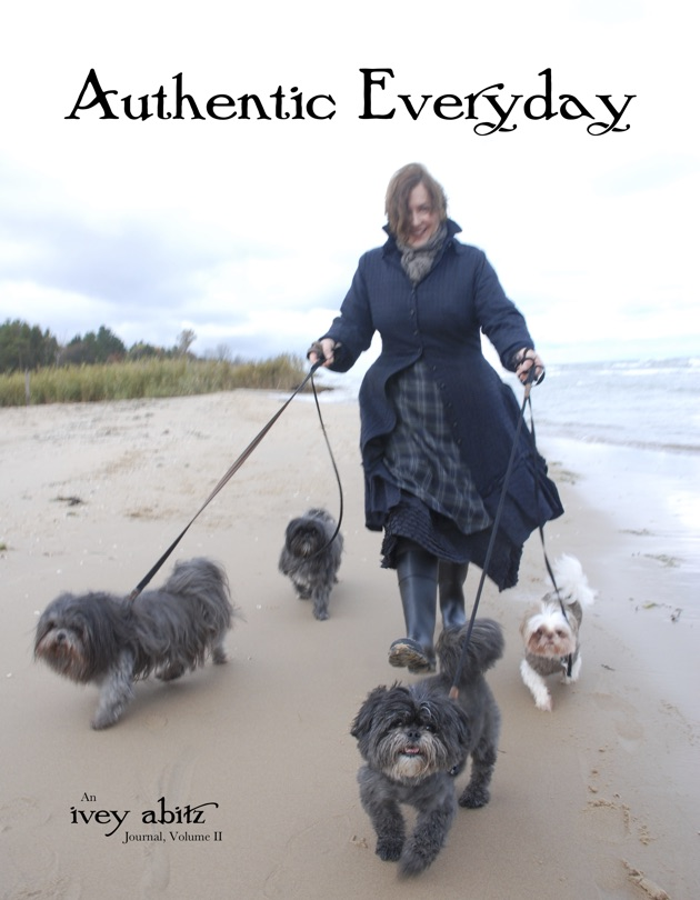 Cynthia Ivey Abitz walks her dogs on the cover of Authentic Everyday Ivey Abitz Journal Volume 2 cover