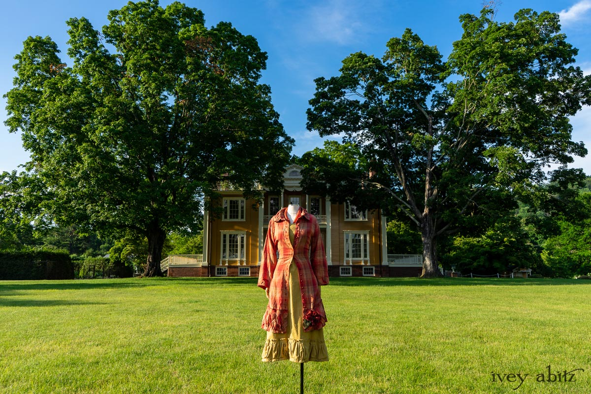 Ivey Abitz Collection no. 63 Sartorial Sanctuary clothing for women pictured at Boscobel House and Gardens