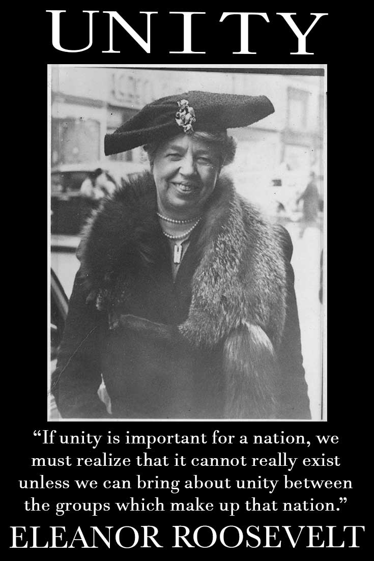 Eleanor Roosevelt quote about unity